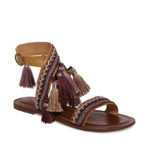 Topshop brown sandal flat
